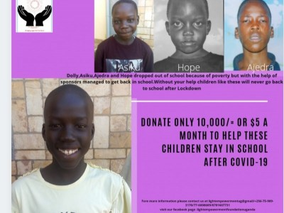 Fundraising for Dolly,Hope,Asiku and Ajedra